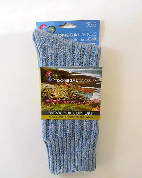 donegal socks light blue