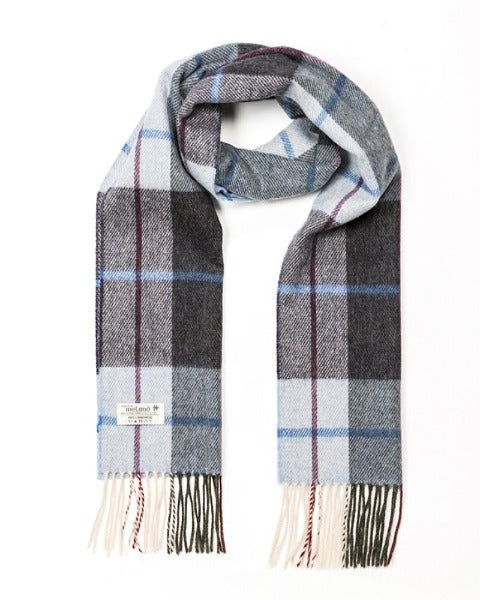 Hanly Lambswool gLight Blue & Charcoal Check