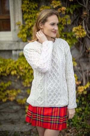 Aran Lattice Collar Sweater