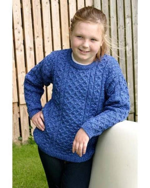 Aran Kids Sweater Blue
