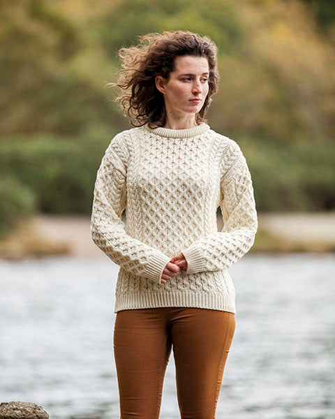 Aran Sweater Merino natural
