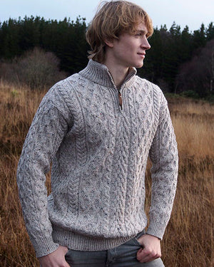 Aran Half Zip Sweater