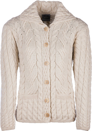 Aran Cardigan  Supersoft Sweater
