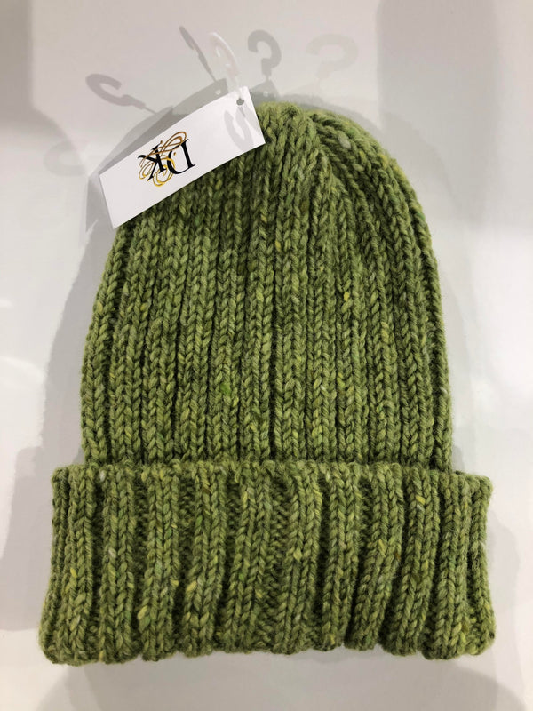 Donegal Wool Beanies Bright Green