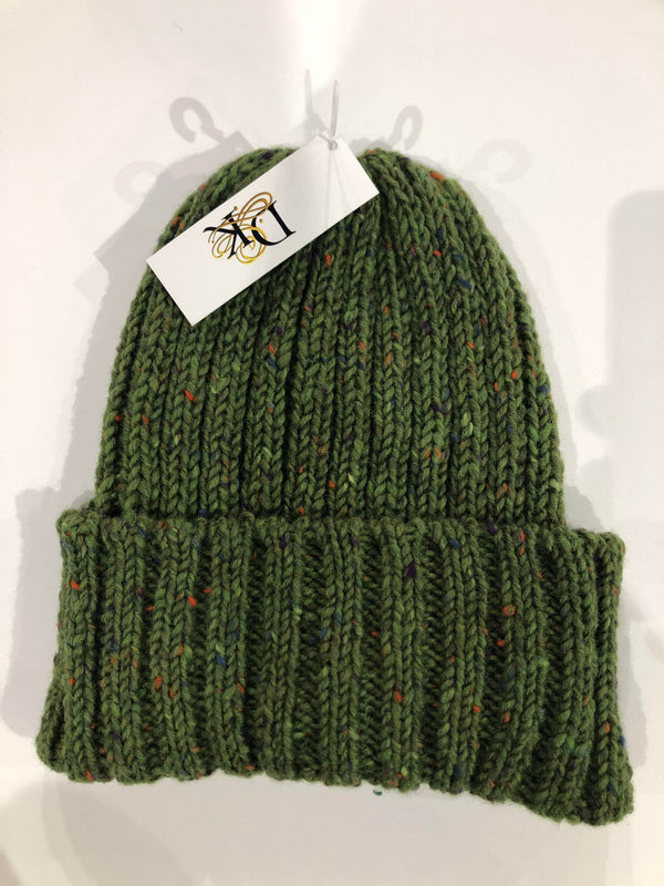 Donegal Wool Beanies Lime