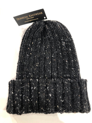 Donegal Wool Beanies Black