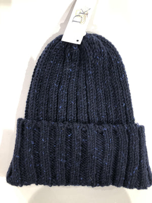 Donegal Wool Beanies Navy