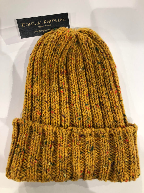 Donegal Wool Beanies Yellow