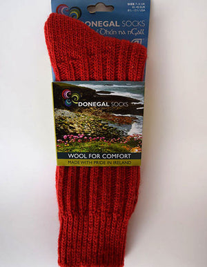 Donegal socks red