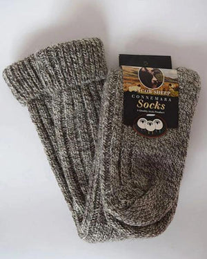 Jacob's sheep knee high socks mix brown