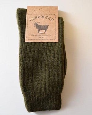 Original Aran Company Cashmere Blend Socks Green