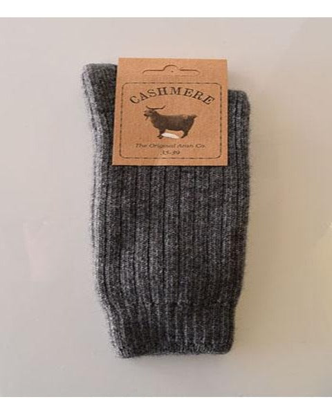 Original Aran Company Cashmere Blend Socks Grey