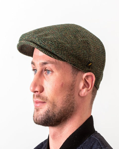 Hatman Green Flat Cap