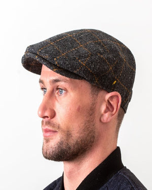 Hatman Checked Flat Cap