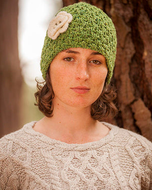 Donegal Yarn Hat Green