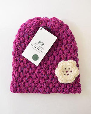 Donegal Yarn Hat Pink
