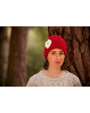 Donegal Yarn Hat Red