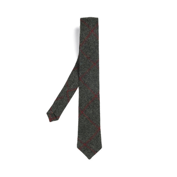 Orwell and Browne Tie Florid State Green & Wine stripe