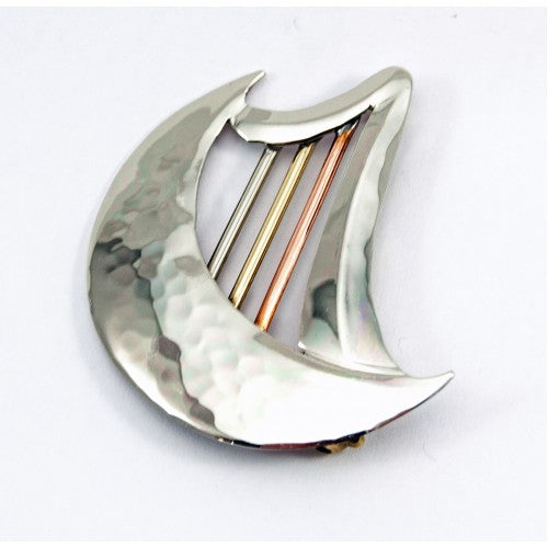 Harp Moon Brooch