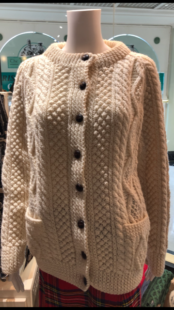 Irish Hand Knit Aran Cardigan