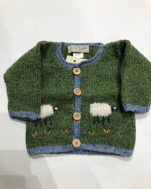 Julie Dillon Kids Cardigan Green