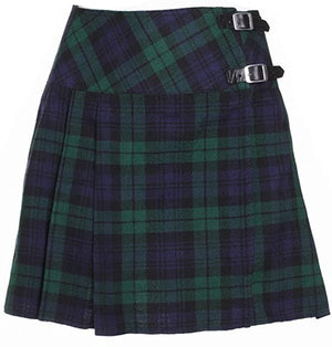 Ladies Wool Mix Kilt Blackwatch