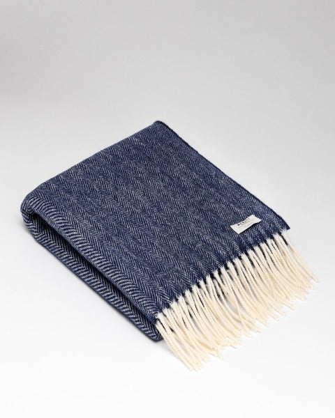 McNutt Cashmere Wrap Nautical Navy