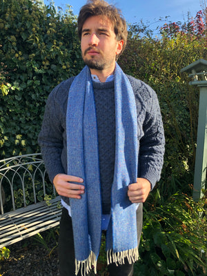 McNutt Lambswool Scarf Donegal Ocean
