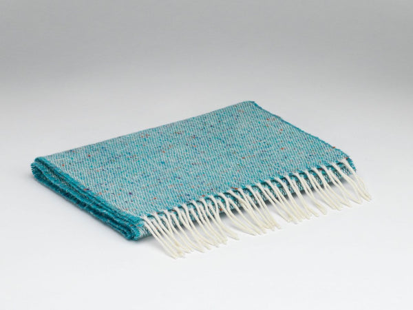McNutt Lambswool Scarf Donegal Peacock