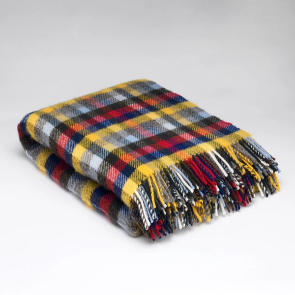Mc Nutt Berry & Buttercup Block Pure wool throw