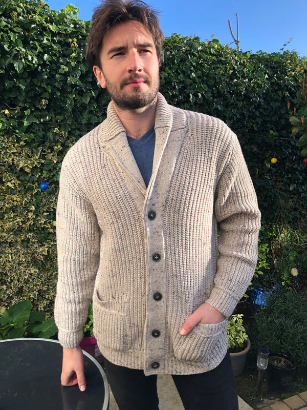 Merino Mens Shawl Cardigan