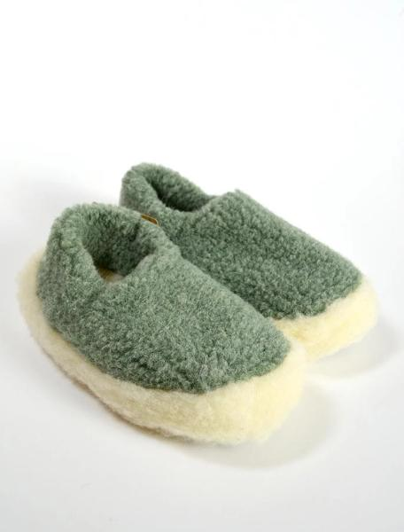 Merino Wool Slippers Green