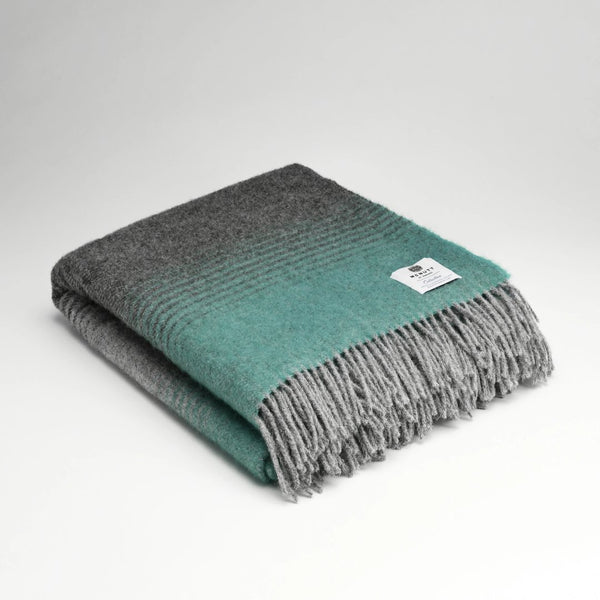 Mc Nutt Starry Night Mint Pure New Wool Throw