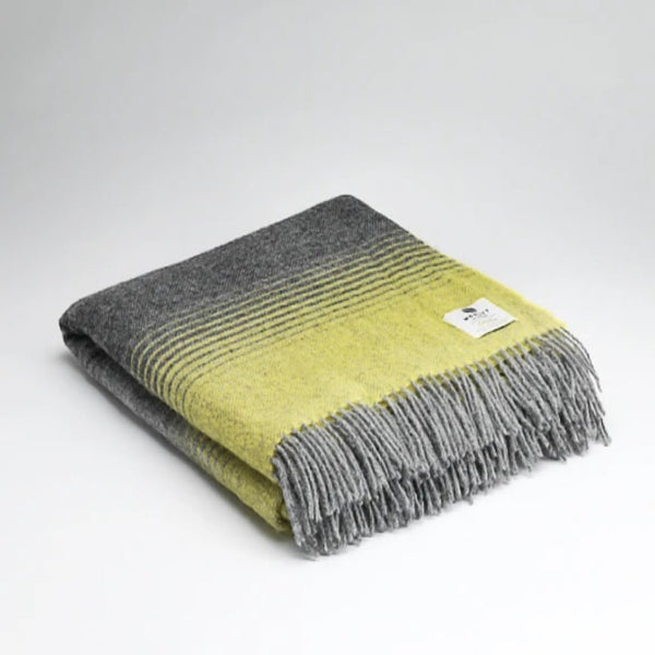 Mc Nutt Pure New Wool Throw Starry Night Yellow