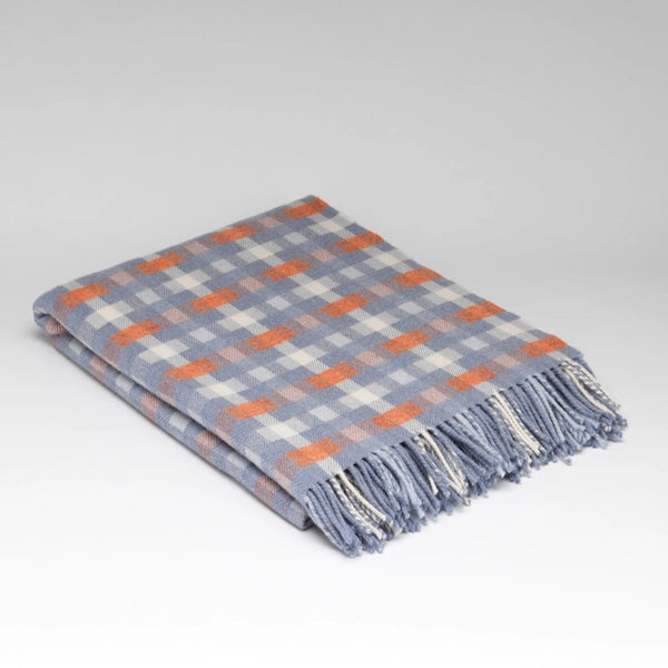 McNutt supersoft wool throw summer sky