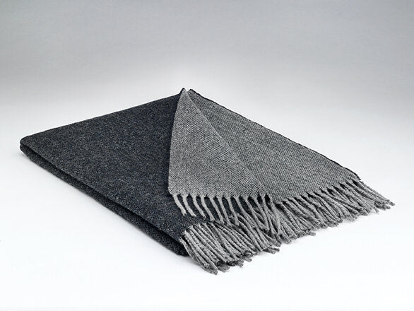 McNutt Supersoft Throw Charcoal Reversible