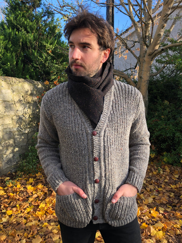 Donegal Hand loomed Rib Cardigan