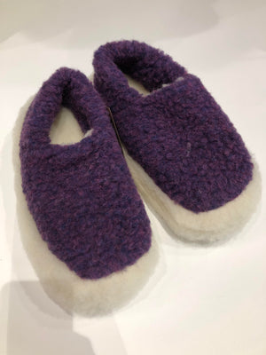 Merino Wool Slippers Violet