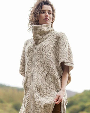 funnel neck merino sweater natural