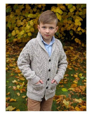 Aran Kids Shawl Collar Cardigan