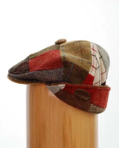 Carnaween Tweed Patch Cap with ear flaps