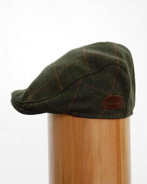 Carnaween Tweed Cap Green Gold Check