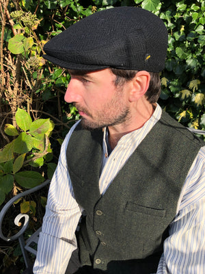 Hatman of Ireland Flat Cap Black