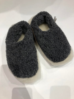 Graphite Merino Wool Slippers