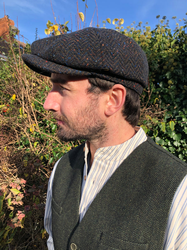 Hatman of Ireland 8 Piece Cap Green Tweed