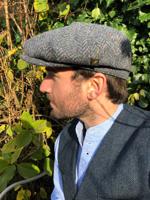 Hatman of Ireland 8 Piece Cap Blue Tweed