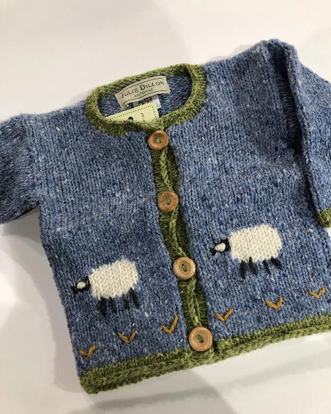 Julie Dillon Kids Cardigan Blue