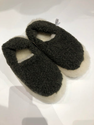 Merino Wool Slippers Khaki