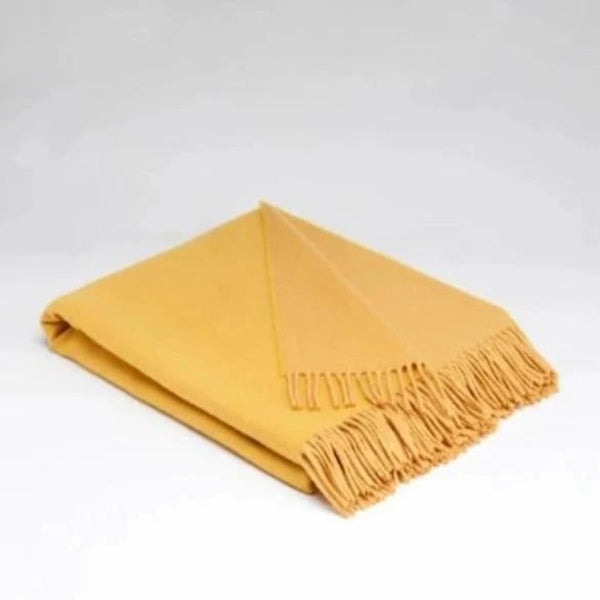 McNutt Golden Sun throw Supersoft wool