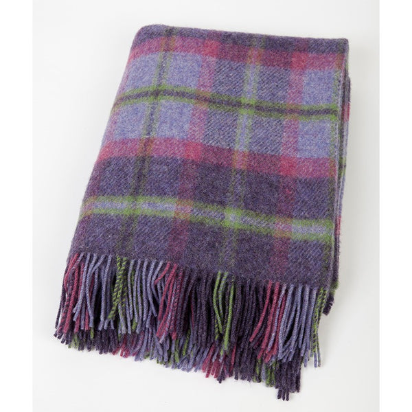John Hanly Wool Throw Purple
